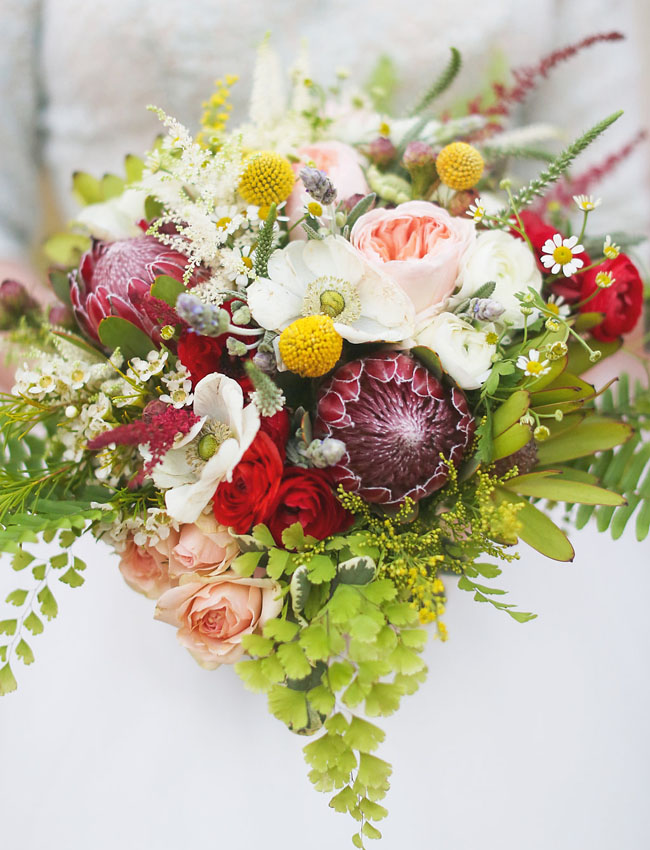 protea billy ball bouquet
