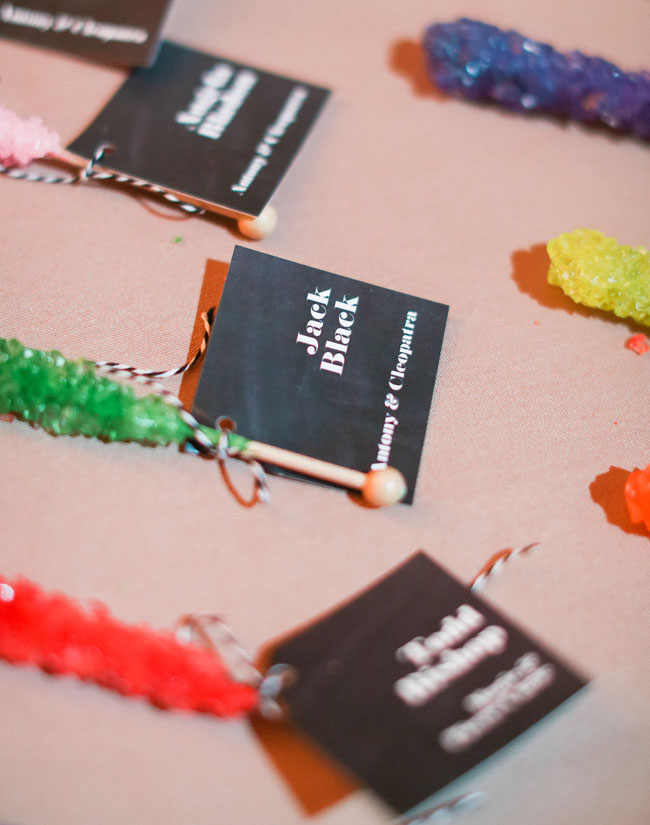 rock candy escort cards