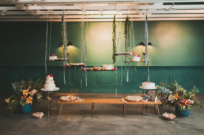 hanging dessert bar