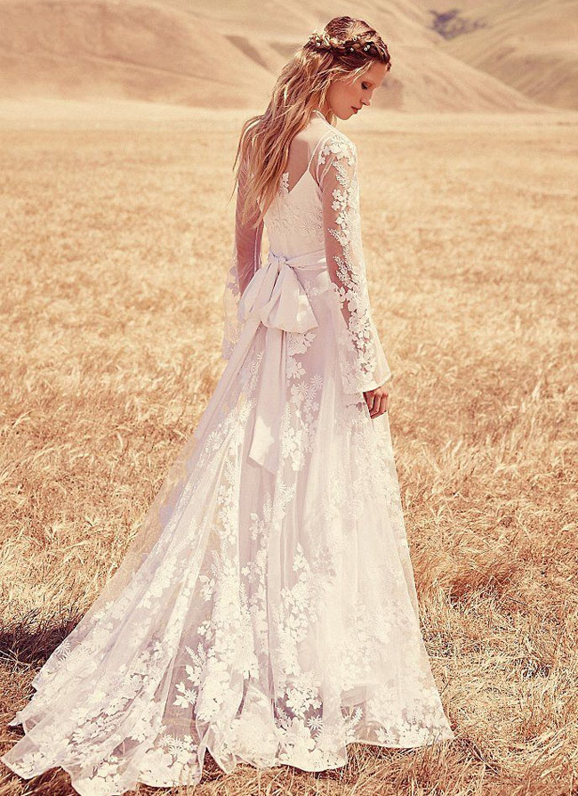 fpeverafter bridal collection from free people green With free people wedding dress
