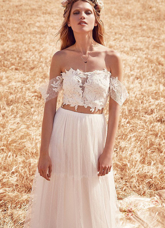 Fpeverafter bridal collection from free people green for Wedding dress images free