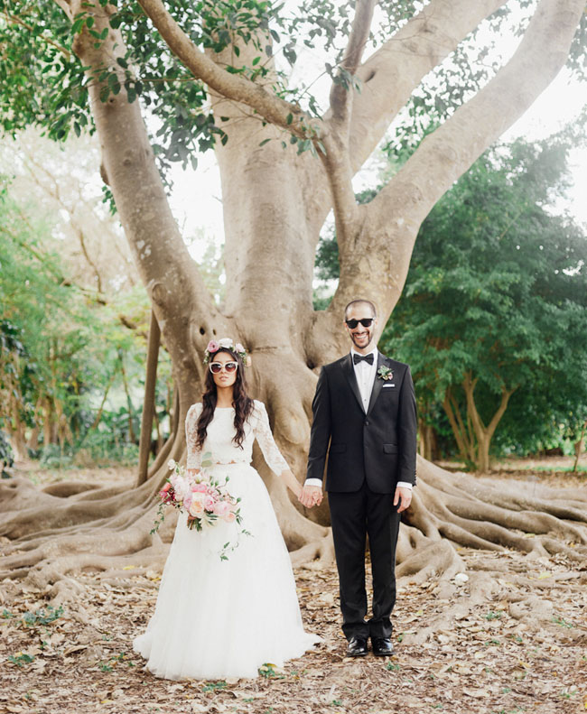 Bohemian Florida Garden Wedding: Brittney + Alex - Green Wedding Shoes