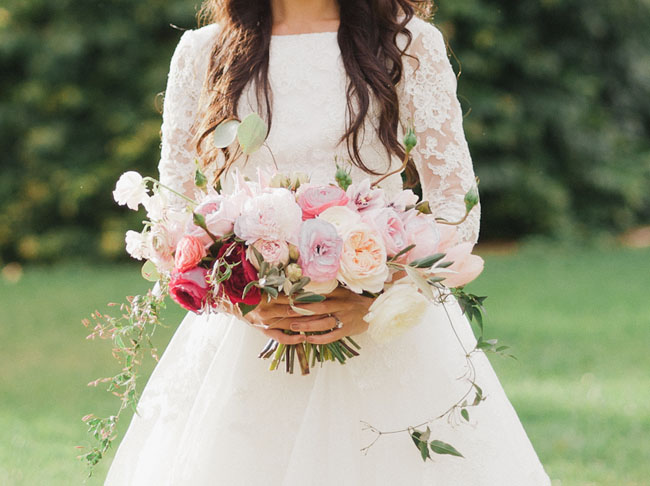 sweet pink ranunculus bouquet