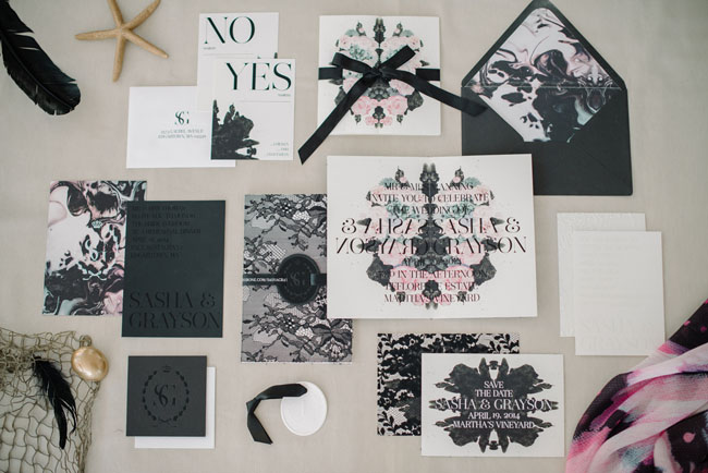 Romantic Gothic Beach Invitation