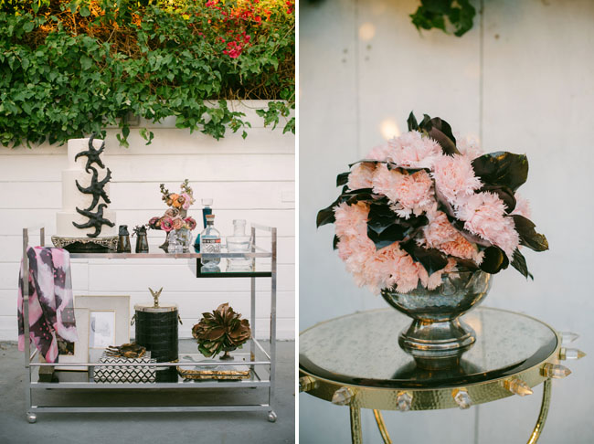 Romantic Gothic Beach Tablescape