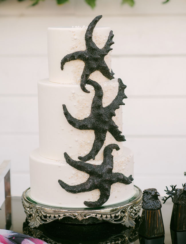 Romantic Gothic Beach Cake