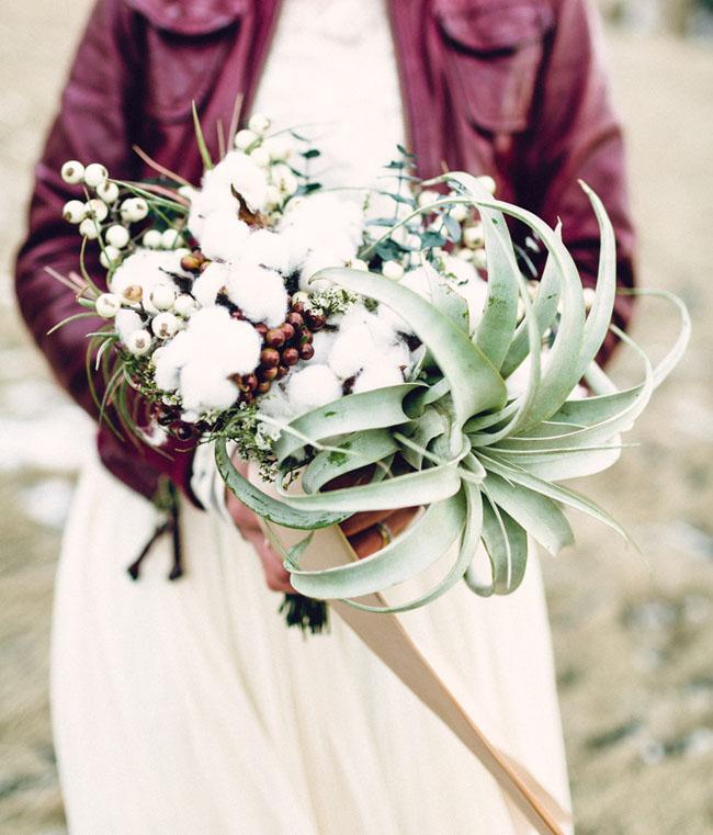 cotton airplant bouquet