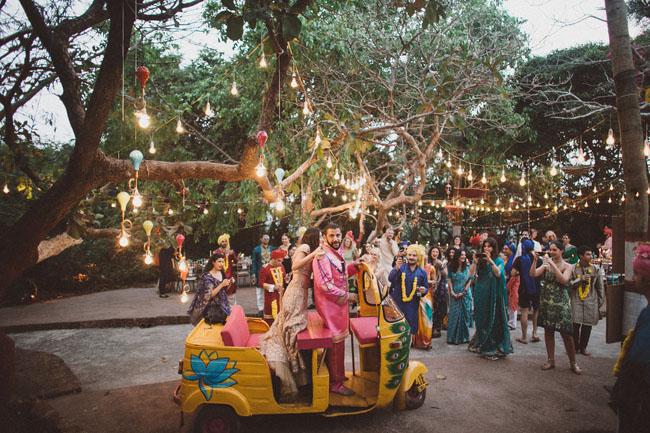 India Wedding Exit