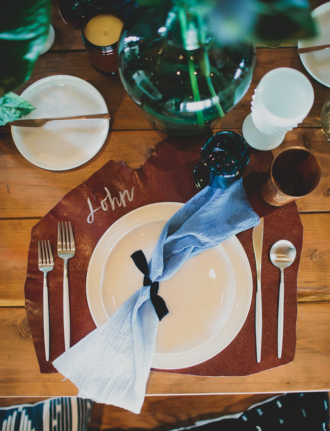 leather place mats