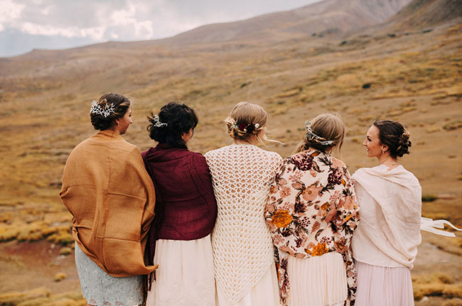 cardigan bridesmaids