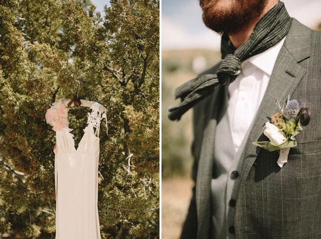 scarf grooms tie