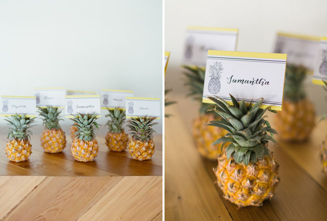pineapple escort cards