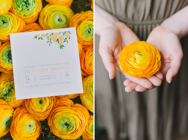 Lemon Citrus Bridal Shower Invitation