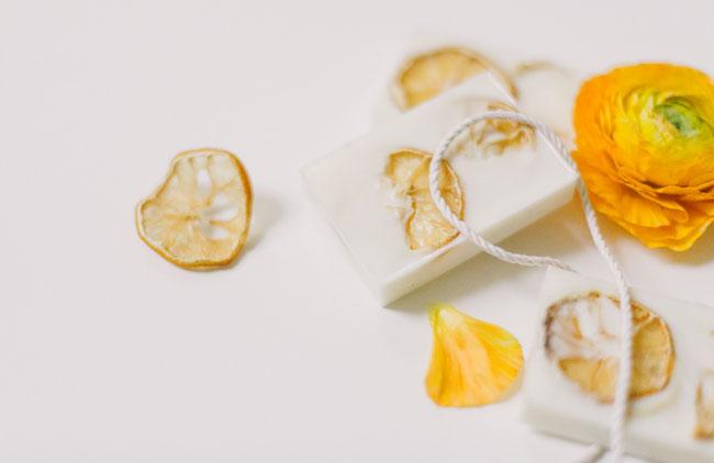 lemon soap favors