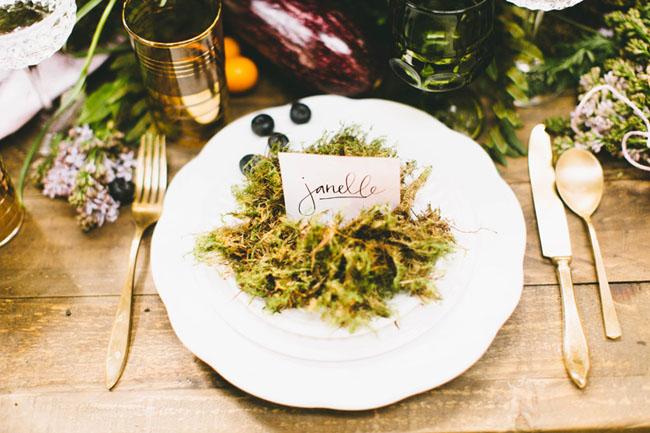 moss plate setting