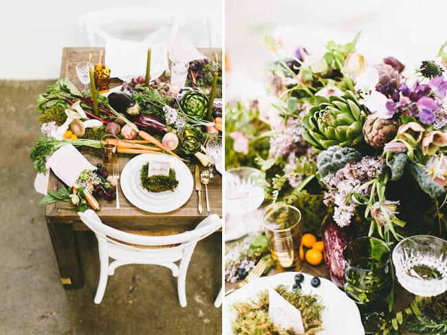 veggie nature tablescape