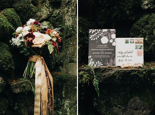bouquet in green