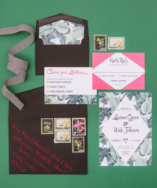 Kate Spade Inspired Invitation