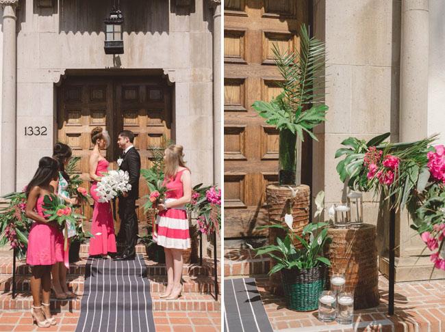 tropical ceremony decor