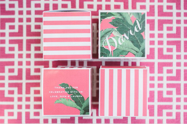 pink tropical boxes
