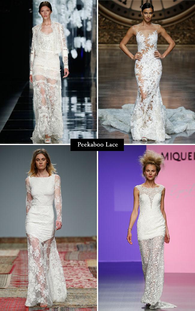 peekaboo lace from barcelona bridal week