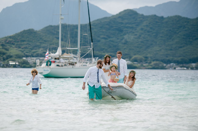 Hawaii Sandbar Wedding