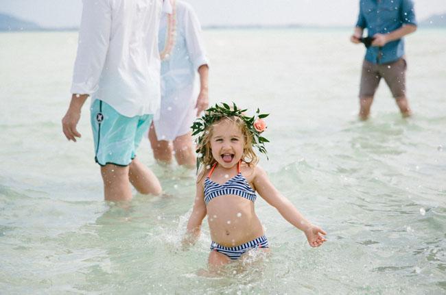 bikini flower girl