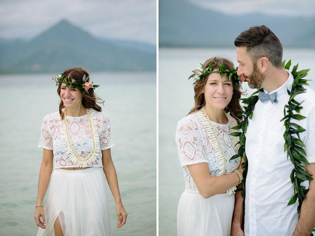 Intimate sandbar wedding in hawaii katie joe green wedding shoes hawaii sandbar wedding junglespirit Gallery