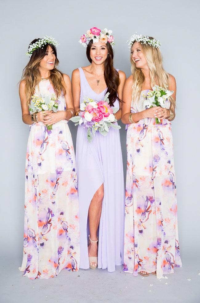 Show me your mumu bridesmaids collection a bridal party - Show me the color lavender ...