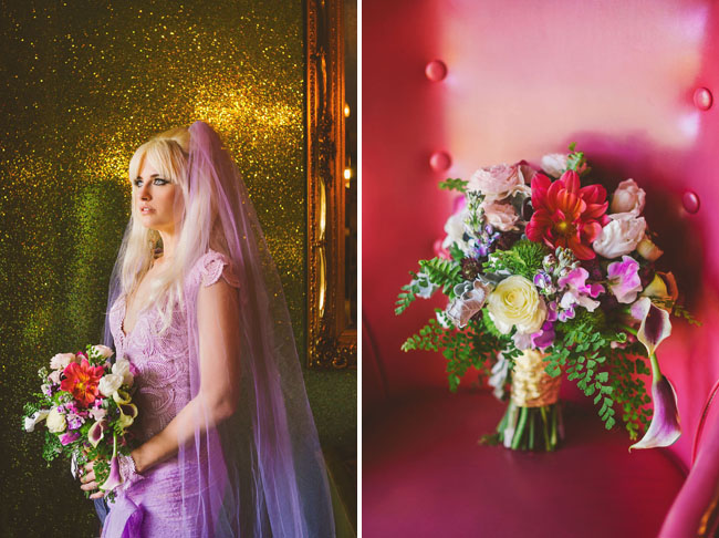 purple wedding veil
