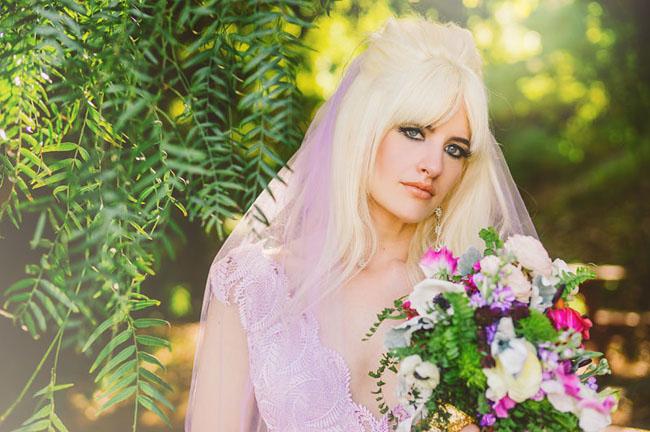 purple wedding veil