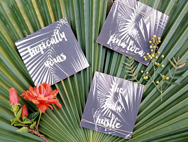 Tropical Neon Invitation