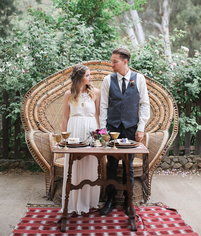 Bridal Shoes Boho: 1970s Bohemian Wedding Inspiration