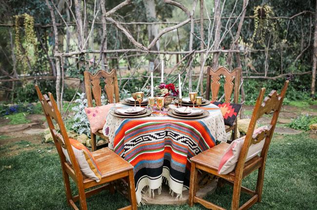 boho rustic tablescape