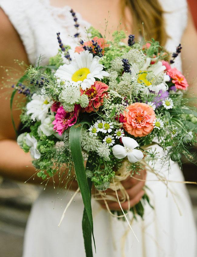 DIY austria wildflower bouquet