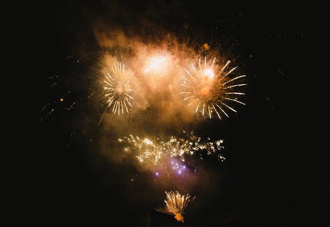 fireworks wedding in Austria
