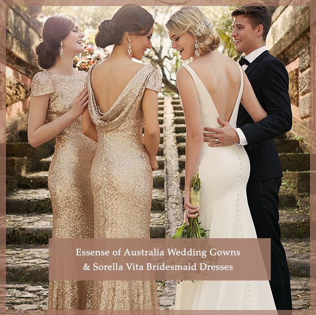 Essense of Australia Wedding Gowns + Sorella Vita Bridesmaid Dresses ...