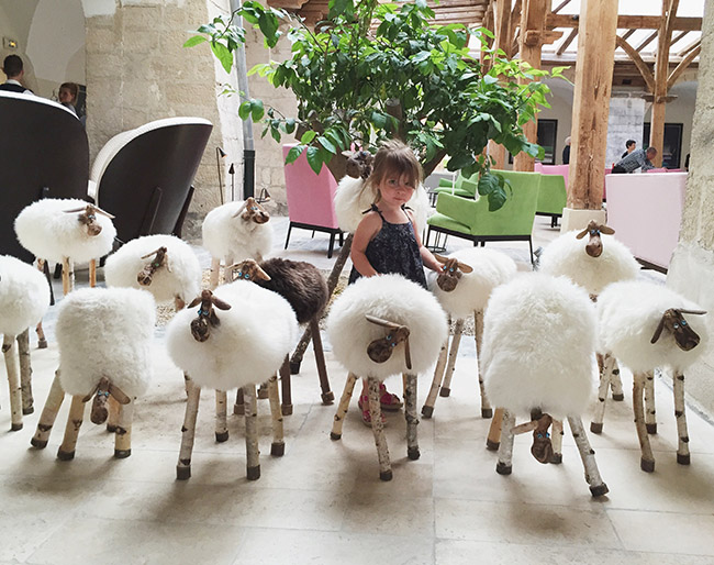 Sheep at Le Couvent Des Minimes Hotel
