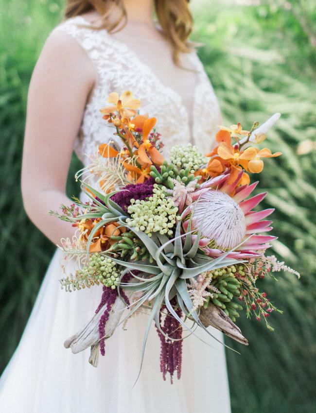 bohemian oasis bouquet