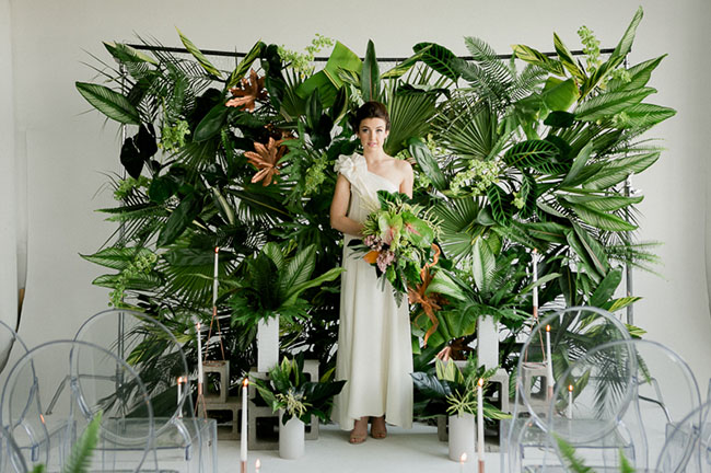 Lush Tropical Wedding Inspiration Green Shoes