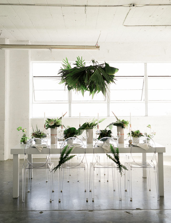 concrete jungle tablescape