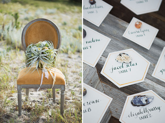 hexagon seating cards