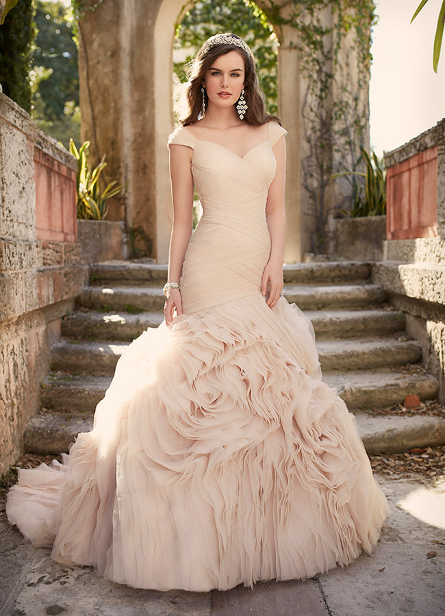 essense of australia pink wedding dress