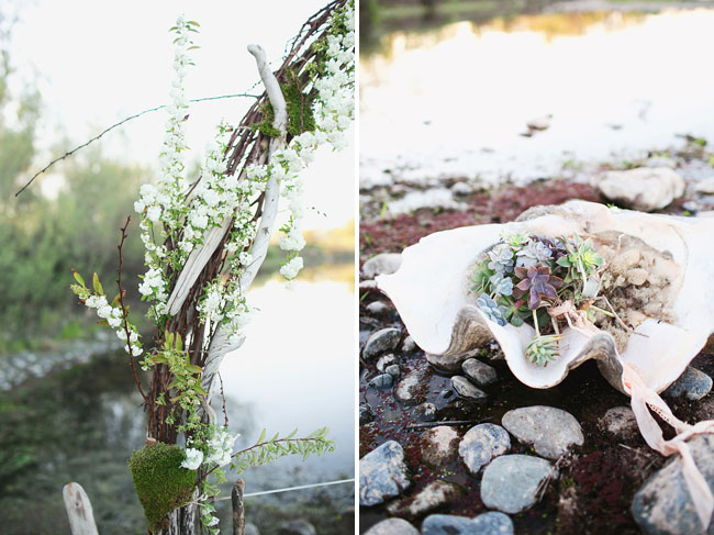 river ceremony florals