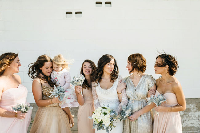 glam bridesmaids