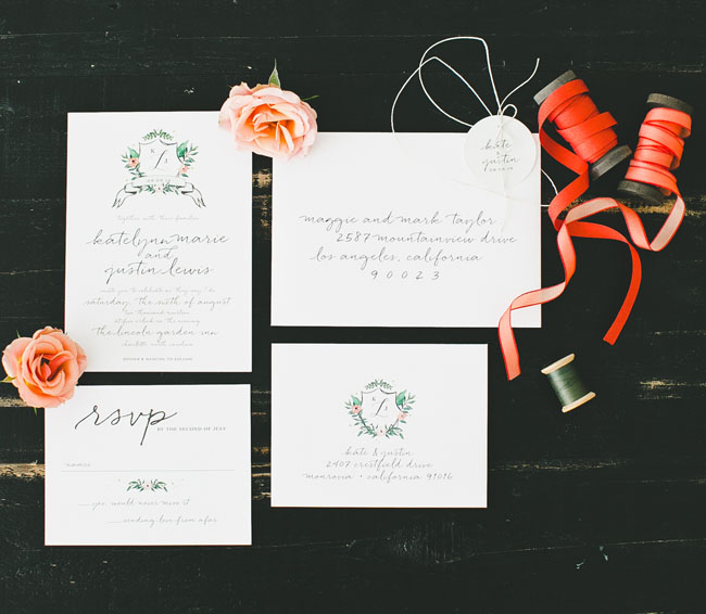 coral invitation spool
