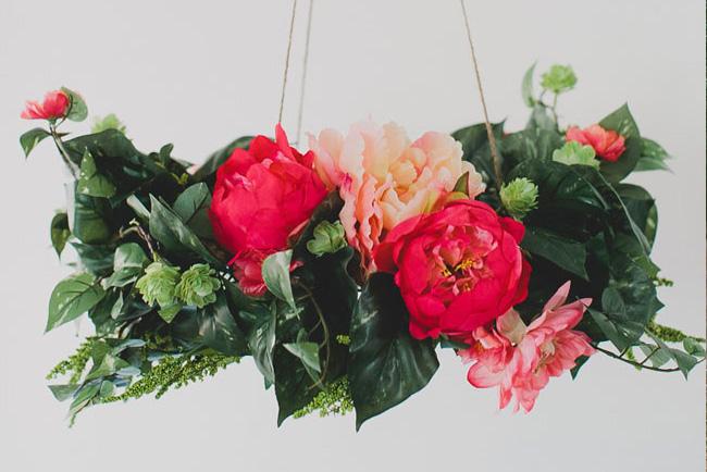 Diy silk flower chandelier green wedding shoes aloadofball Choice Image