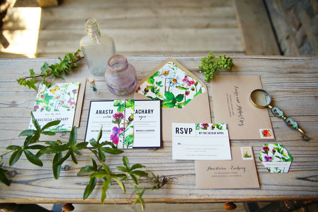 garden inspired invitation