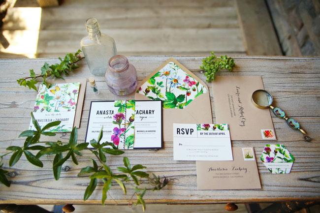 garden inspired invitation