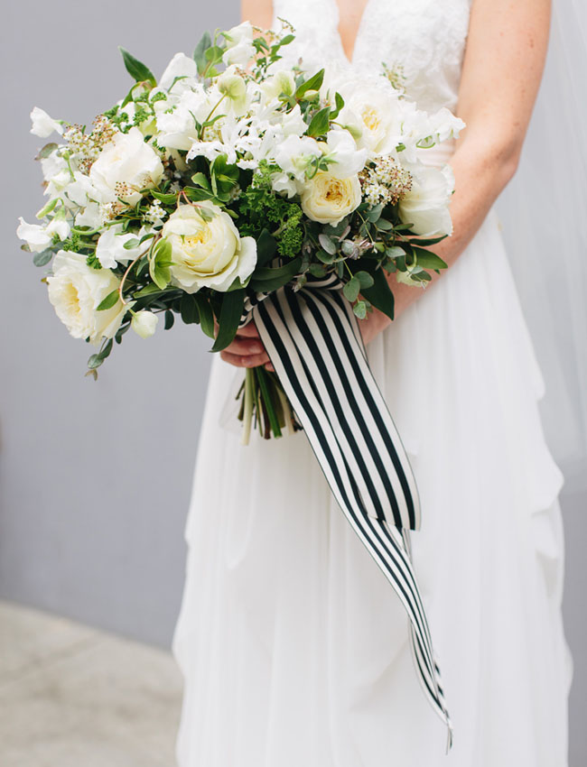 striped bouquet ribbon